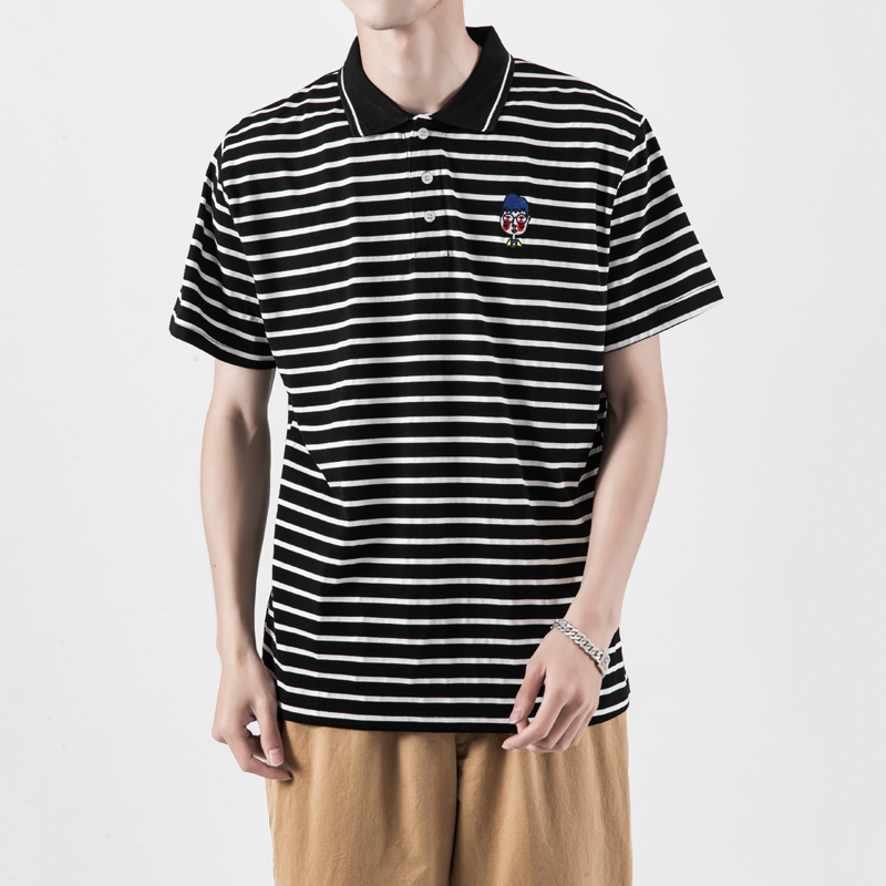 Fashion Stripe Male   Polo   Shirt Summer Large Sizes Embroidery Men   Polo   Shirt M-5XL   Polo   Shirts Man Short Sleeve