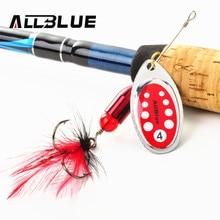 ALLBLUE 5pcs Metal Fishing Lure Longcast Spoon Spinner Lures For Fishing Artificial Fishing Lures Multi Sizes Bass Bait 3.5g-11g