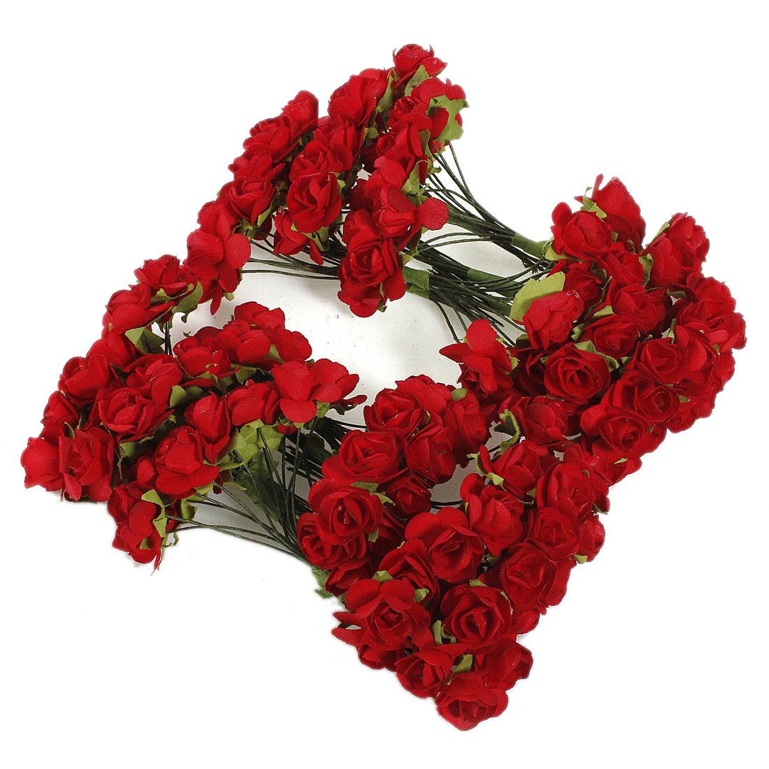 Online buy wholesale red paper flowers from china red paper lhbl 144 x artificial paper red rose flower wedding craft decorchina dhlflorist Image collections