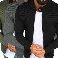 873cd13691 Male Striped Fold Designed Jacket Men Solid Color Zipper Jackets And Coats  Mens 2018 Brand Slim