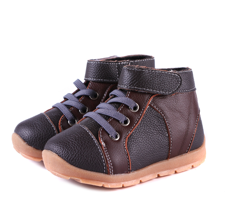 Boys-boots-genuine-leather-velvet-high-top-sneakers-navy-blue-black-and-brown-for-early-spring-and-deep-autumn-early-winter-4