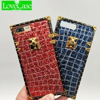 LoveCase2018 Luxury Bling Gold Button Case For IPhone88plus TPU Diamond Soft Back Cover For IPhone77plus Mobile
