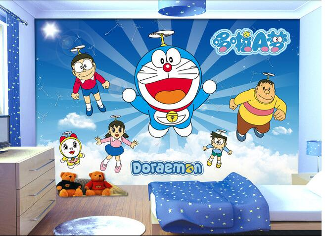 3d Wallpaper Custom Mural Non Woven 3d Room Wallpaper Doraemon