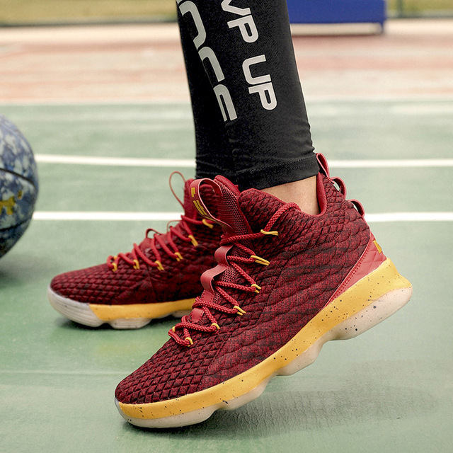 2018 Hot High Top Basketball Shoes For Men Woman Cushioning Original Basketball Sneakers Shockproof Couple Athletic Sports Shoes