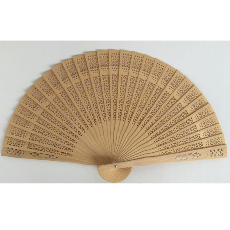 30pcs lot decotive carved Wood Hand Fan promotion gifts