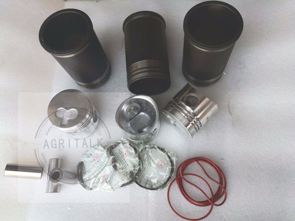 Laidong KAMA L380 (swirl chamber), set of piston, piston pin, piston rings and cylinder liners of YUCHAI YC13 piston