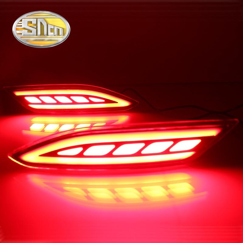 SNCN Multi-function Reflector LED Rear Fog Lamp Bumper Light Brake Light Turning Signal Light For Honda HRV HR-V 2015 2016 2017 sncn multi function led reflector lamp rear fog lamp rear bumper light brake light for toyota vellfire 2005 2014