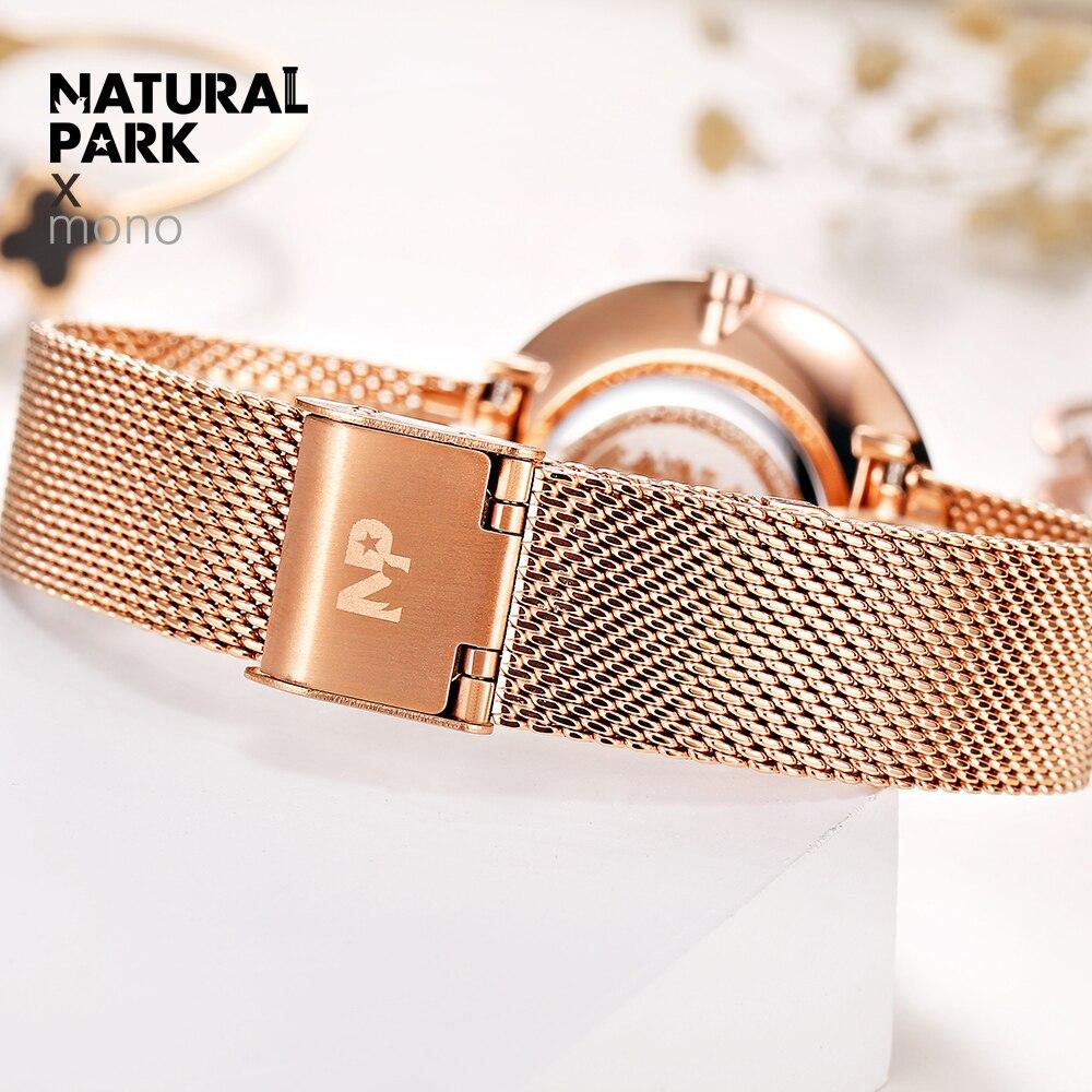 Часы из нержавеющей стали с золотым плетением, женские брендовые Роскошные повседневные часы, женские наручные часы, женские часы - 5
