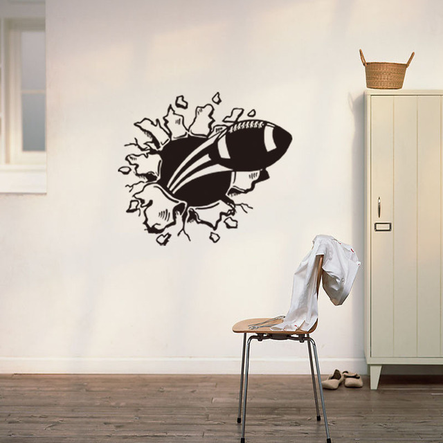 3D Design Rugby Bedroom Wall Art Sticker Decal DIY Home Decoration ...