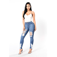 high waist jeans 2019 new fashion stretch womens wear sexy denim outdoor trousers
