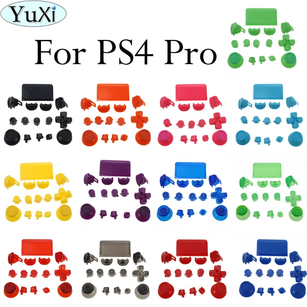 YuXi 16Colors  For Play Station Dualshock 4 PS4 Pro Controller JDM-040 JDS 040 R2 L2 R1 L1 Trigger Button