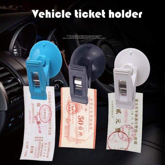 Auto Clip di Biglietti Auto Supporto di Vetro di Aspirazione Nero Cap Domestici Biglietto Ventosa per il Vetro Rimovibile Supporto Per Parasole Telo della Tenda