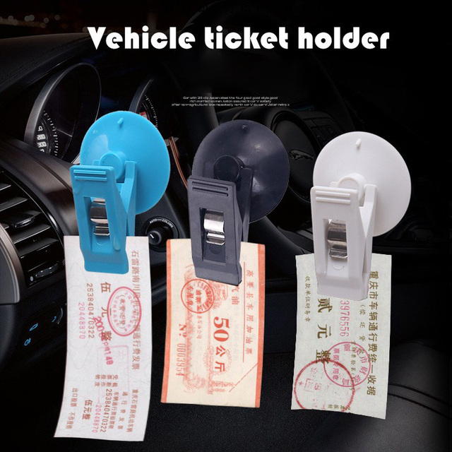 Car Ticket Clip Car Glass Holder Black Suction Cap Household Ticket Sucker for Glass Removable Holder For Sunshade Curtain Towel