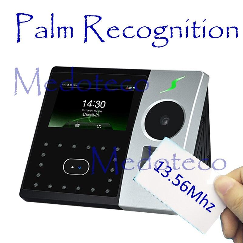 Hybird Biometric Palm Time Attendance Employee Electronic Attendance Face & Fingerprint Time Recorder 13.56Mhz Card Attendance