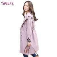 Autumn Winter Women Windbreaker Coat 2018 High Quality Long Loose Pregnant Women Overcoat Solid Color Hooded