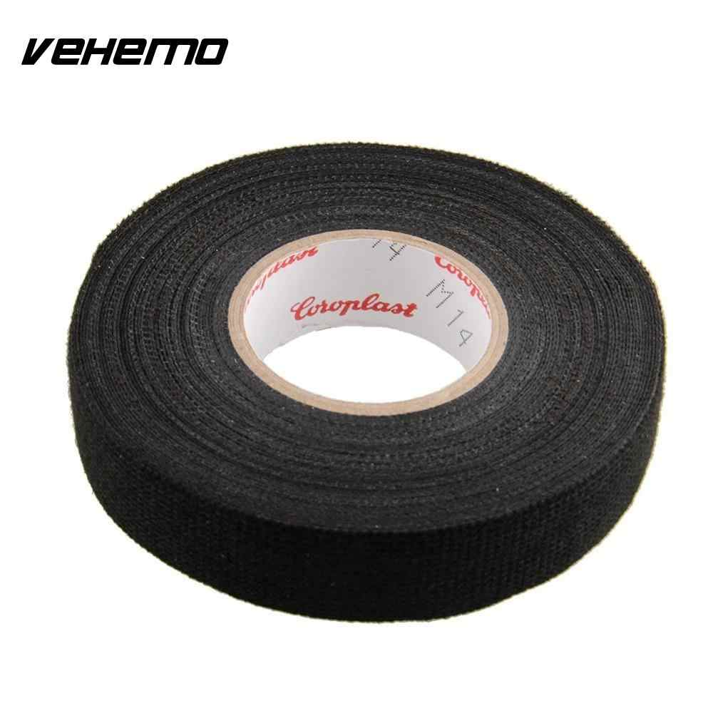 vehemo 1x adhesive 19mmx15m cloth fabric tape cable looms wiring harness for car heat resistant [ 1000 x 1000 Pixel ]