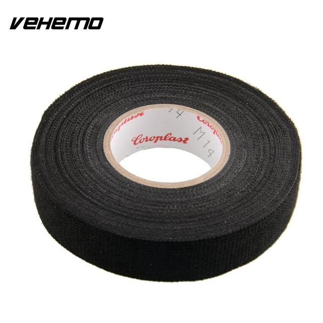 vehemo 1x adhesive 19mmx15m cloth fabric tape cable looms wiring rh aliexpress com Roof Heat Tape Gutter Heating Cable Heat Tape for Pipes