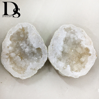 2pcs Natural Big Size Agate Geode Slice Drusy Druse Quartz Crystal Cluster Points Minerals Specimen Healing Crystal Home Decora