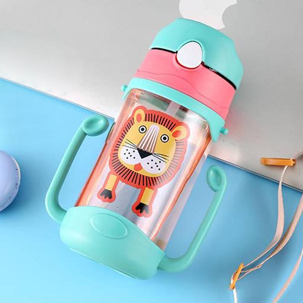 Картонная бутылка Детские чашки Детская кружка для воды девичий здоровый BPA бесплатно мультфильм молоко легко носить с собой кофе герметичность милые бутылки - Цвет: Green