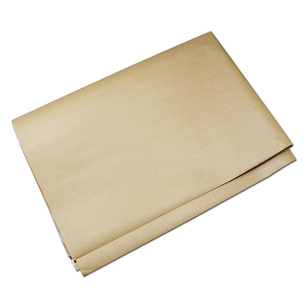 Beautiful 600Pcs Blank Brown Kraft Paper Wax Paper Greaseproof Packaging  EG51