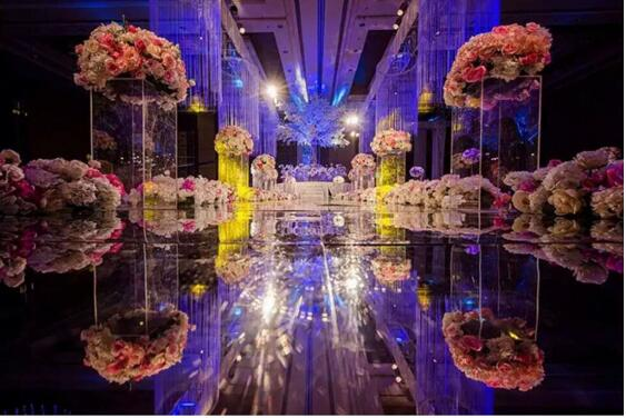 Acrylic three piece road wedding products stage arrangement in Party DIY Decorations from Home Garden