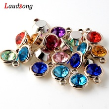 50Pcs Rose Gold Acrylic Beads Drill Charm Pendants For Jewel