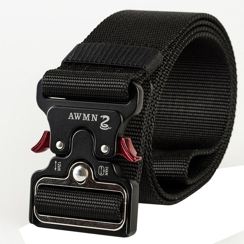 New 5 Cm Width Tactics Belt High Quality Nylon Alloy Insert Buckle Men Belt Outdoor Casual Quick Release Cowboy Belt