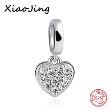 hot deal buy new 925 sterling silver love heart charm beads fit original european charm bracelet beads diy jewelry making for women gifts