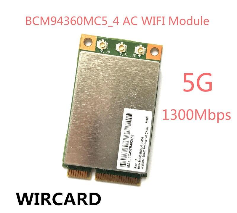 WIRCARD Broadcom BCM94360MC5 BCM94360 1300Mbps 802.11ac Wireless Desktop PCi-E WiFi Adapter PCi Express Card 5GHz WIFI Module