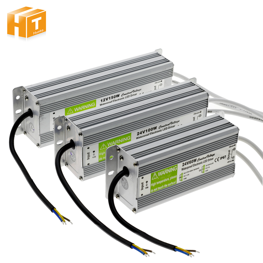 LED Driver DC12V/24V IP67 Waterproof Lighting Transformers for Outdoor Lighs Power Supply 10W 20W 30W 45W 60W 100W 150W led driver ac220v to dc 12v 10w 20w 30w 60w 100w 150w waterproof ip67 led power supply lighting transformers