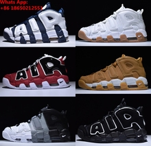 info for 92389 1ee1a Aire más Uptempo QS olímpicos toros UNC negro para hombre mujeres zapatos  de baloncesto baratos 3
