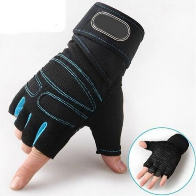 M-XL Gym Gloves Heavyweight Sports Exercise Weight Lifting Gloves Body Building Training Sport Fitness Gloves P15