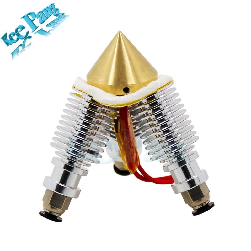 3 in 1 out Brass Diamond 0.4mm Nozzle Extruder Multi V6 Bowden Extrusion Remote Hotend 3D Printer Parts 12V24W Hot End 1.75 Part 3d printer accessory reprap j head mkiv mkv hotend nozzle wade bowden extruder for choice top quality free shipping