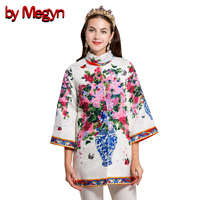 By Megyn Spring Autumn Coats Elegant Lady Plus Size XXL Long Coat Female Overcoat For Women