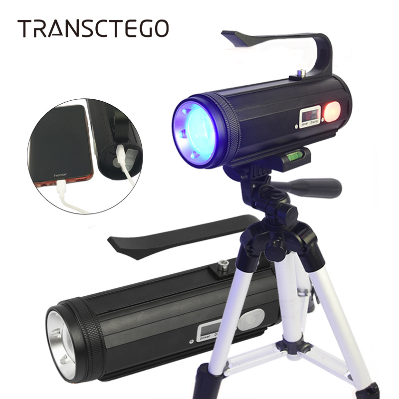 4 Color Fishing Light Led Flashlight Torch Portable Powerful Fishing Lamp USB Rechargeable Searchlight Ultraviolet UV