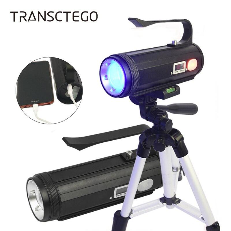4 Color Fishing Light Led Flashlight Torch Portable Powerful Fishing Lamp USB Rechargeable Searchlight Ultraviolet UV Flashlight
