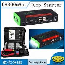 Multi-Функция 68800 мАч автомобиля Пусковые устройства Портативный легче 4USB Запасные Аккумуляторы для телефонов 600a пусковое устройство автомобиля Зарядное устройство для автомобиля Батарея LED