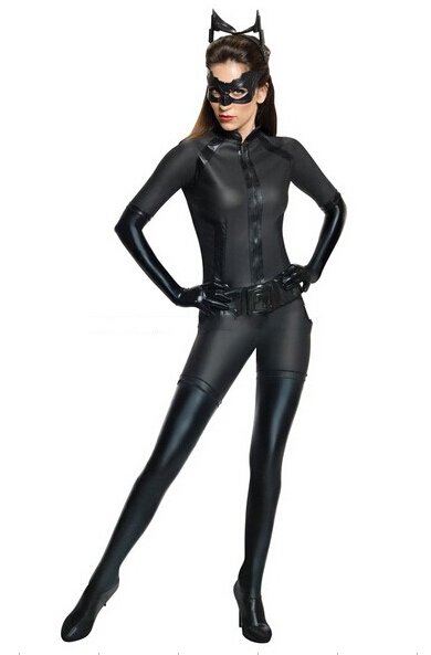 Special price! black color MAFEX Serena Kyle Woman Sexy Suit Zentai Catsuit Metallic Lycra Shiny