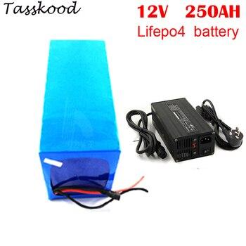 BMS встроенный длительный срок службы RV lifepo4 12v 250ah глубокий цикл литий-ионных батарей lifepo4 аккумулятор + 5A зарядное устройство