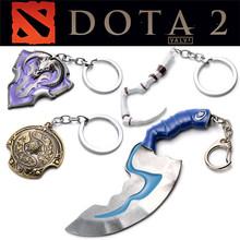 1pcs Game Series Keyring New Arrival Dota 2 Keychain Toys Alloy Key Rings For Action Figure Men Gifts Toys