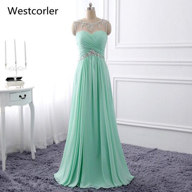 Elegante Charming Mint Green Prom Kleider Mit Bördeln Und Falte ...