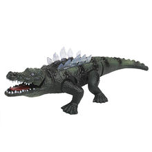 Electric Simulational Crocodile Toy Action Figure Lights with Sound Effects For Kid Gift Toys Hobby Model Kit Toys for Children(China)