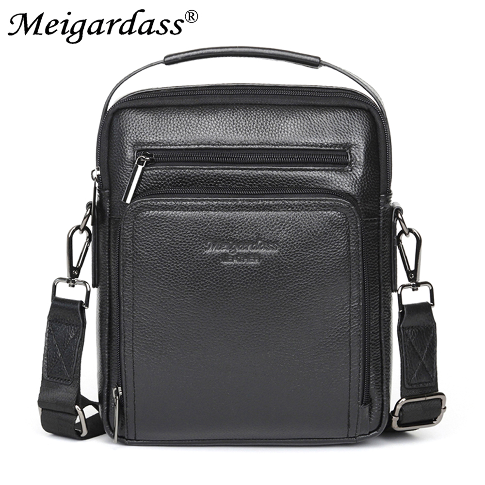 MEIGARDASS Genuine Leather Messenger Bag Mens Business Briefcase Shoulder Bags for male Travel Crossbody Bag Office Handbags NEW маркер для доски centropen 8569 1р 4 6 мм розовый