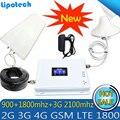 Lintratek Tri Band Amplificatore 900 1800 2100 GSM DCS WCDMA 2G 3G 4G LTE Ripetitore Del Segnale 900 /1800/2100 Cellulare Ripetitore cellulare