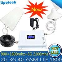 Lintratek Tri Band Amplifier 900 1800 2100 GSM DCS WCDMA 2G 3G 4G LTE Signal Booster