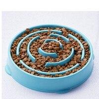 Zwierzęta Pies Kot Interaktywne Food Bowl Poślizgu Gulp Powolne Podajnik Podajnik Zapobiec Zadławienia Gluttony Puzzle Zwierzęta Psy Koty Karmienia Narzędzia