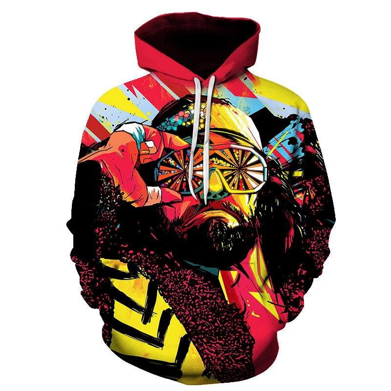 3D Print Men Hoodie Sweater Sweatshirt Funny Galaxy Octopus Jacket Pullover Tops