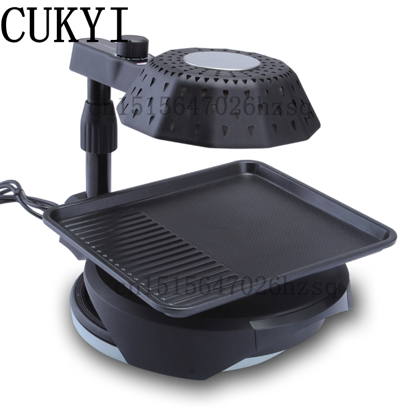 CUKYI household Electric Grills & Electric Griddles Lotus leaf shape frying pan 3D infrared BBQ machine cukyi household electric multi function cooker 220v stainless steel colorful stew cook steam machine 5 in 1