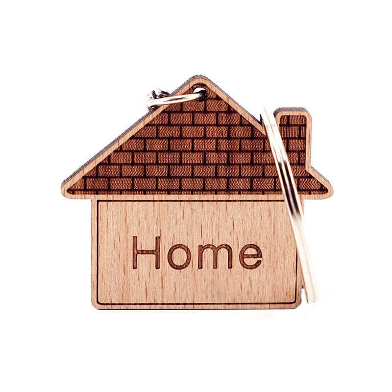 Ручной работы деревянный брелок для дома домашний ключей Мужские Женские