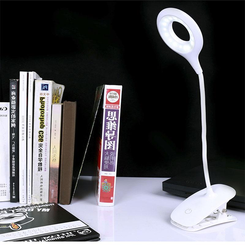 18650 LED Touch On/off Switch 3 Modes Clip Desk Lamp 2700K-7000K Eye Protection Light Dimmer Rechargeable USB Led Table Lam